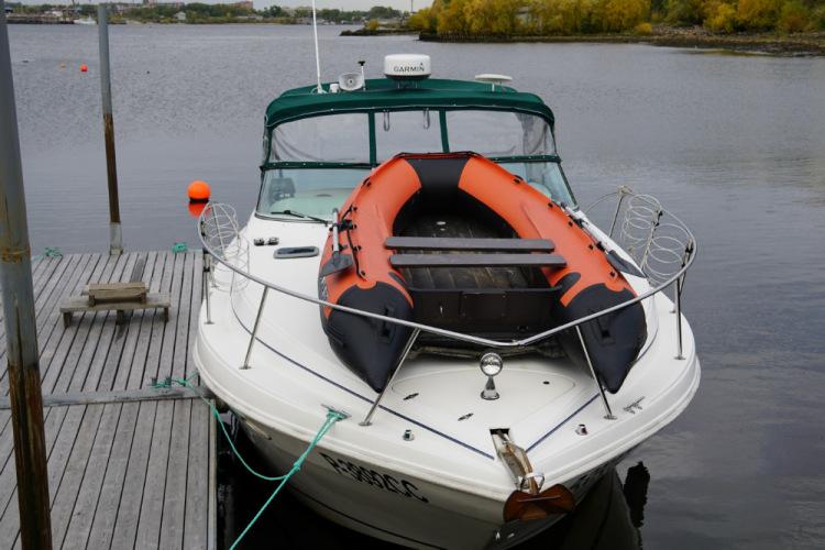 проклейка днища лодки