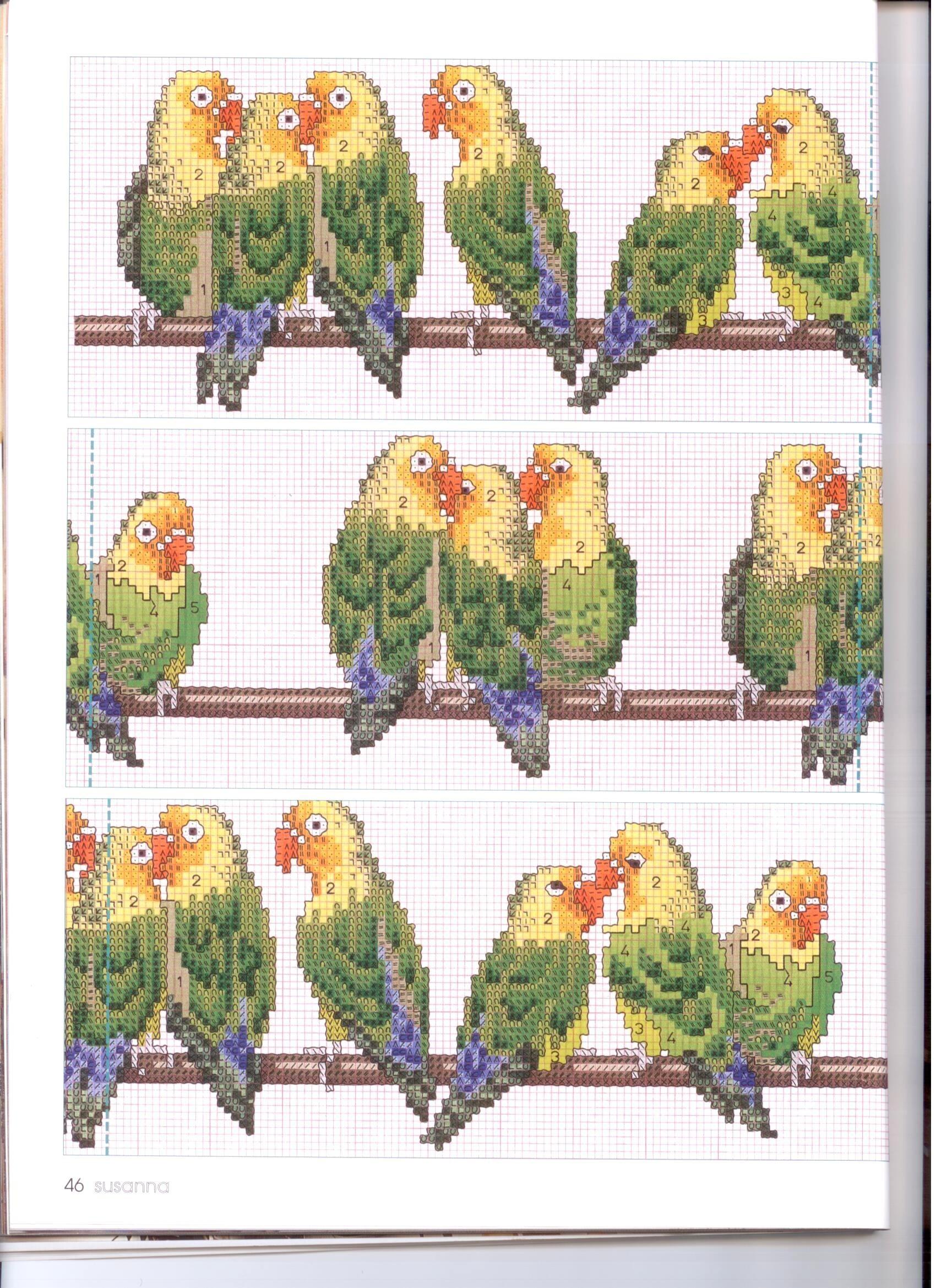времена года схема вышивка япония