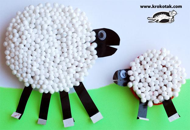 Поделки в детский сад овечка