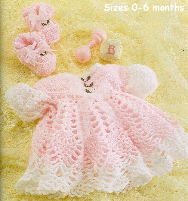 Вязание спицами для новорожденной девочки платье крючком
