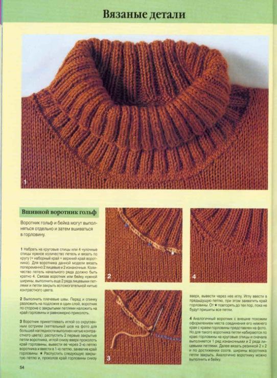 Вязание на спицах обработка горловины 2