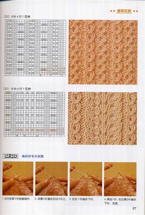 Узоры вязанием спицами со схемами - Лучшие концепции стиля и моды.