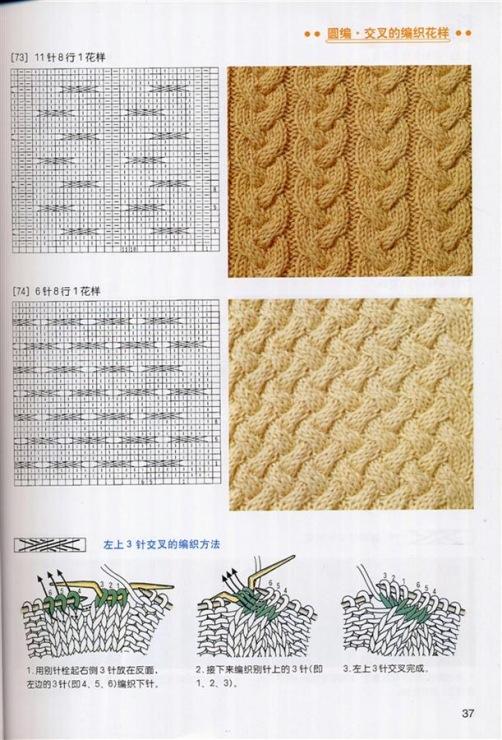 Вязание спицами узор плетёнка схема 98
