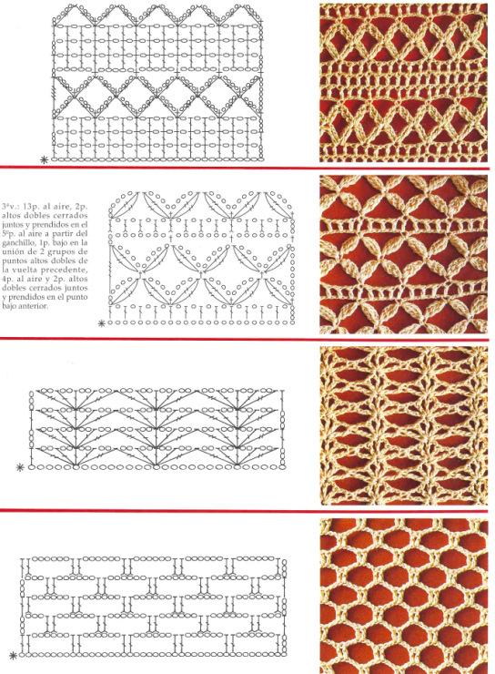 Ажурное вязание крючком - схемы, узоры, модели бесплатно. ажурные узоры спицами со схемами