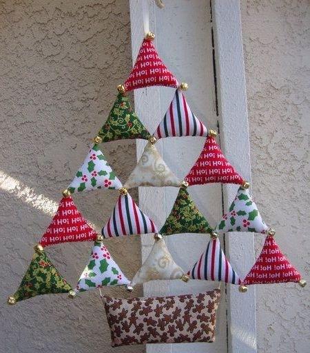 Новогодняя елка своими руками из ткани фото