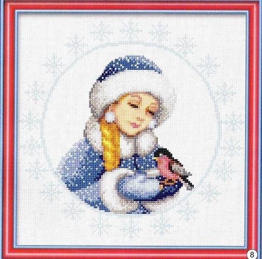 Вишить снегурочку скачать